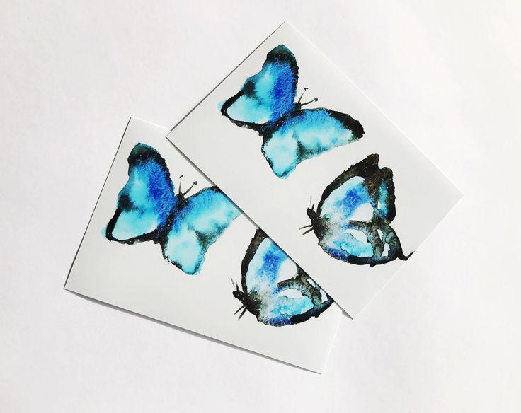 blauer Schmetterling, Wasserfarben PRINT von Finarive auf Etsy https://www.etsy.com/de/listing/494648944/blauer-schmetterling-wasserfarben-print