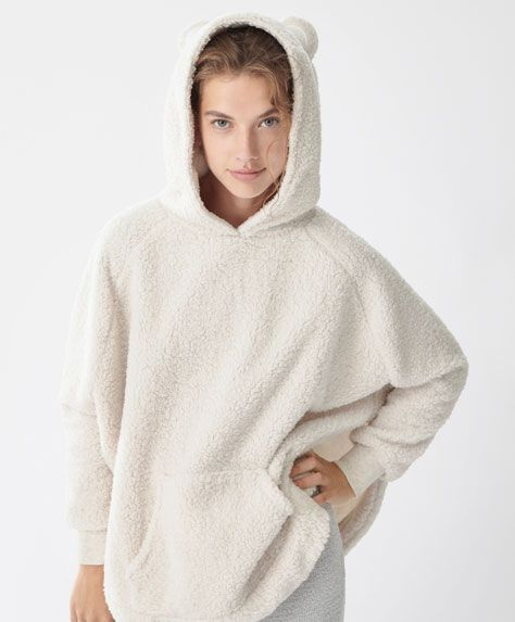 Hooded bear poncho