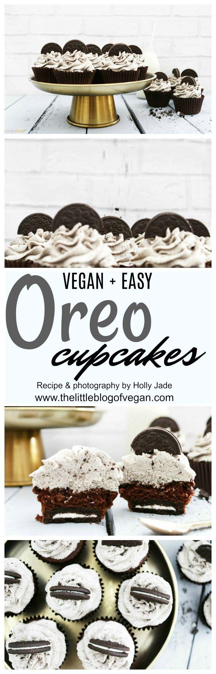 THE BEST vegan oreo cupcakes with a hidden oreo with thick & creamy oreo frosting. 30 minutes to make, what better?