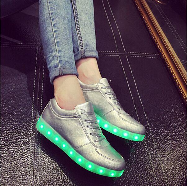 7 couleurs Chaussures Luminous dentelle Colorful Souliers jg8fqUAqW