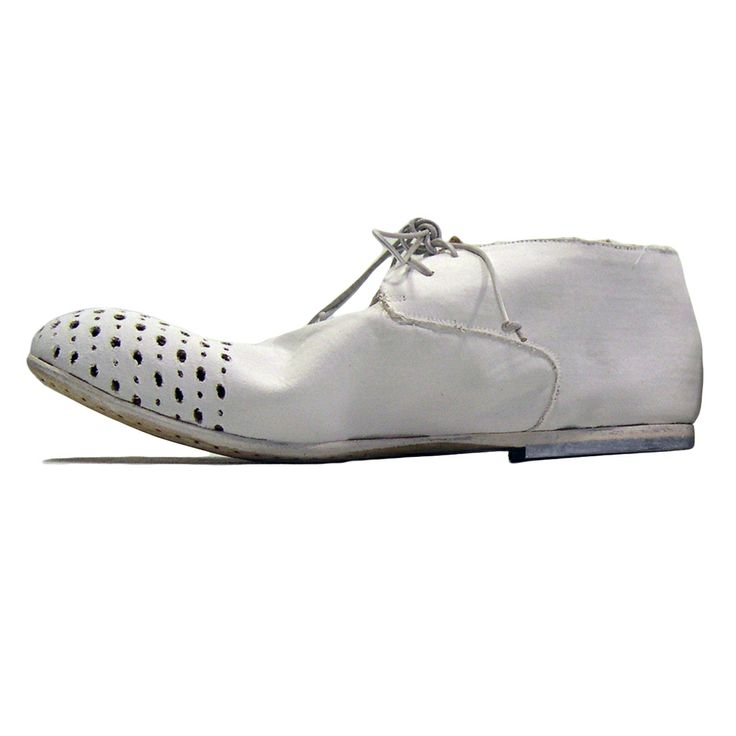 Rundholz Mainline - Perforated White Hand-painted Shoes 425206 Spring Summer 2014