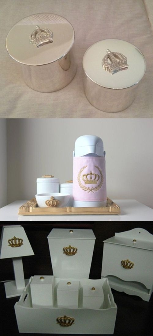 Ideias para um quarto de bebê princesa! Lindo! Ideas for a princess baby bedroom! Gorgeous!