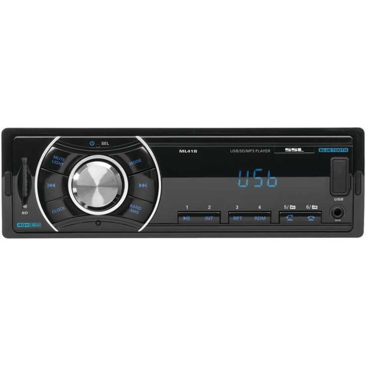 SOUNDSTORM ML41B Single-DIN In-Dash Mechless AM-FM Receiver (With Bluetooth(R) & Remote)