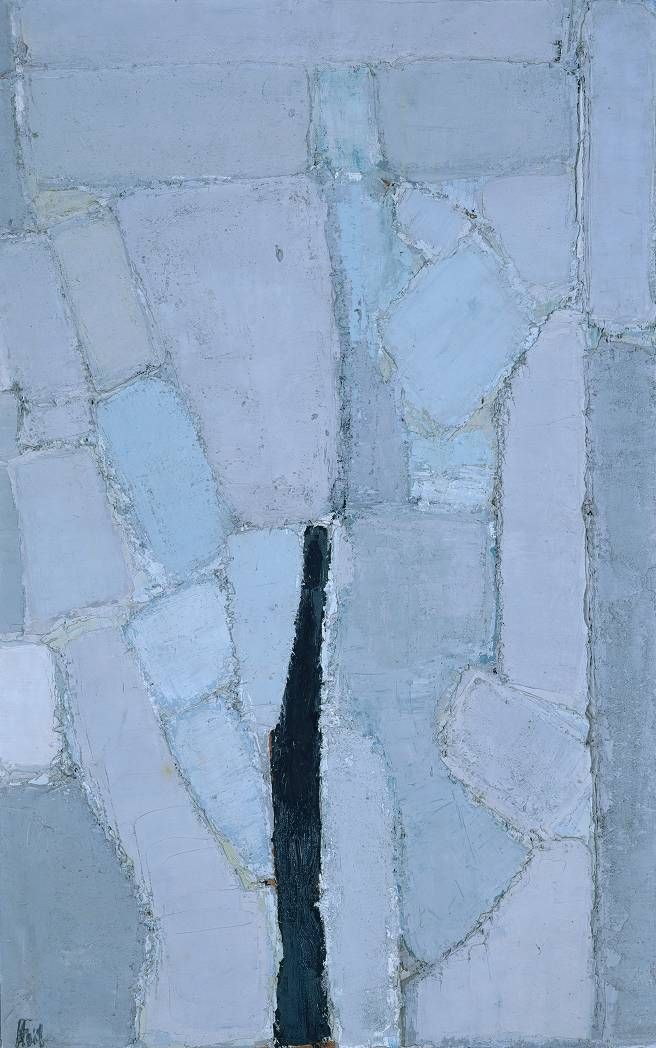 Composition 1950 / Nicolas de Stael / oil on board / at the Tate