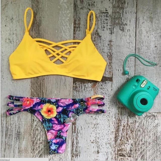 Brésilienne Femmes Serpent Shorts Retour Croix Wrap Top Bleu Clair Effronté Bikini Bretelles Rembourré Maillot de Bain Biquini Maillots De Bain