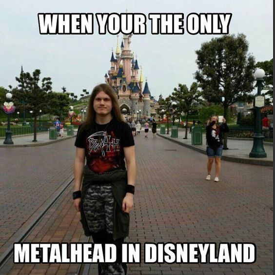 The Happiest Place on Earth just with a better soundtrack! #metal #music #funny #lol