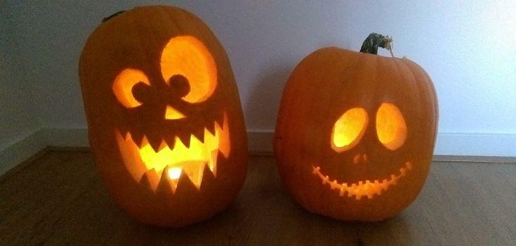 Een leuke DIY voor Halloween. Zelf pompoenen uithollen en er een Jack 'O Lantern van maken!