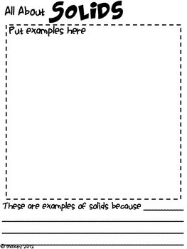 States of Matter Student Book TPT Freebie