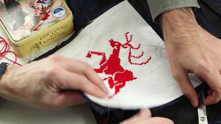 How to do a cross stitch embroidery on clothing using the waste canvas t...