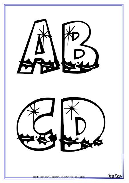 ALFABETOS LINDOS: Molde de letras para EVA com tema Natal