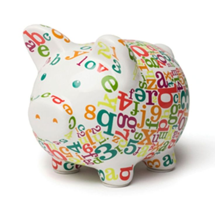 C r gibson iota baby children 39 s piggy bank alphabet soup soups alphabet and babies - Extra large ceramic piggy bank ...