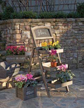 """Chalkboard market stand / garden plant """"ladder"""""""
