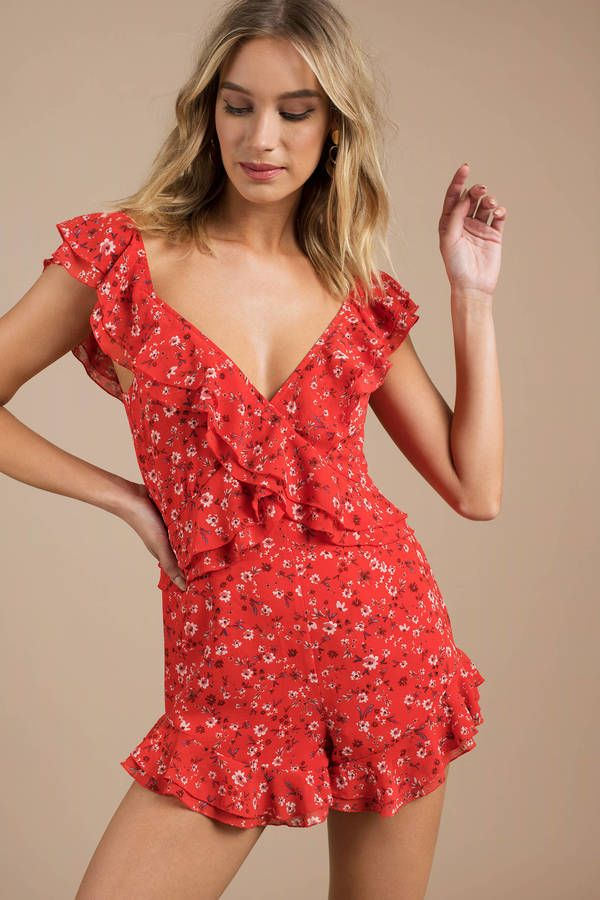 748687bd6a99 Looking for the I m Better Red Off Shoulder Romper
