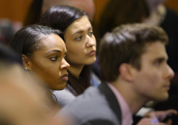 Despite Aaron Hernandez's serial philandering and dire legal troubles, Shayanna Jenkins shows up to court day after day in support of her fiancé.