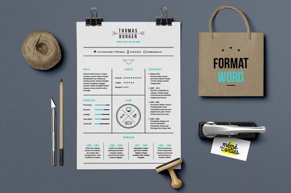 Burger - Resume template Word by @Graphicsauthor