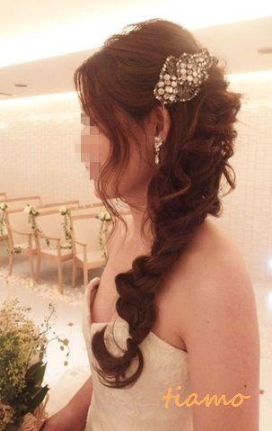 VERA WANG×サイドラプンツェルのお洒落花嫁さま♡   大人可愛いブライダルヘアメイク『tiamo』の結婚カタログ