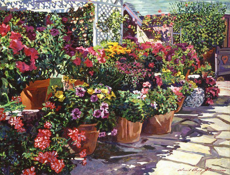 David Lloyd Glover (b.1949) —  Gazebo Garden, 2014  (900x686)