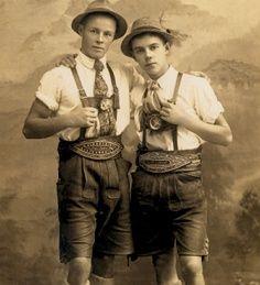 Vintage Lederhosen #German #fashion