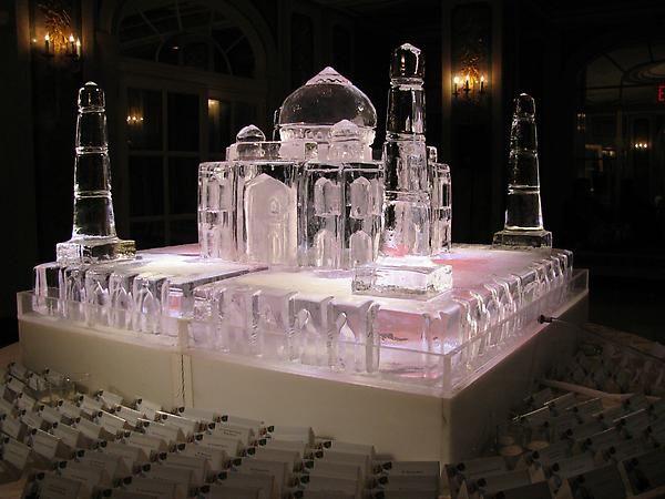 Taj Mahal Sculpture Place Card Table Plaza Hotel New