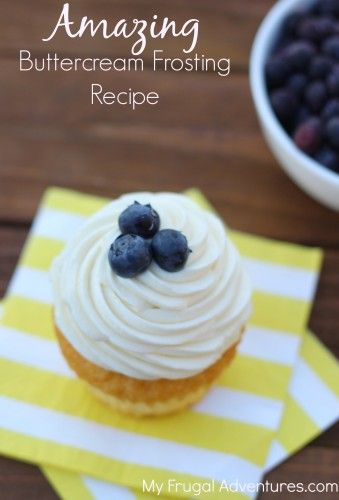 Amazing Buttercream Frosting Recipe - just 4 ingredients and you have a creamy and delicious go to frosting.