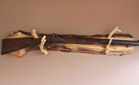 Long Gun Display Rack A 97 Aspen Backing With Pine Rests