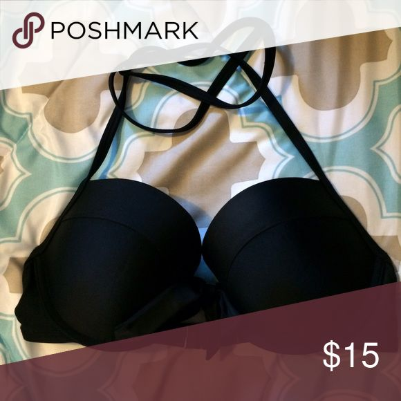 Aerie Bikini Top NWOT Push-up NWOT. Lost weight faster then expected and never fit me. Push-up top with tie in the middle. Halter tie back. aerie Swim Bikinis