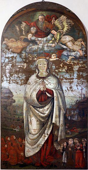 Bernardo di Girolamo - Madonna della confraternita della Trinità - gonfalone - 1515-30 ca.- Museo civico di Gualdo Tadino (Umbria)