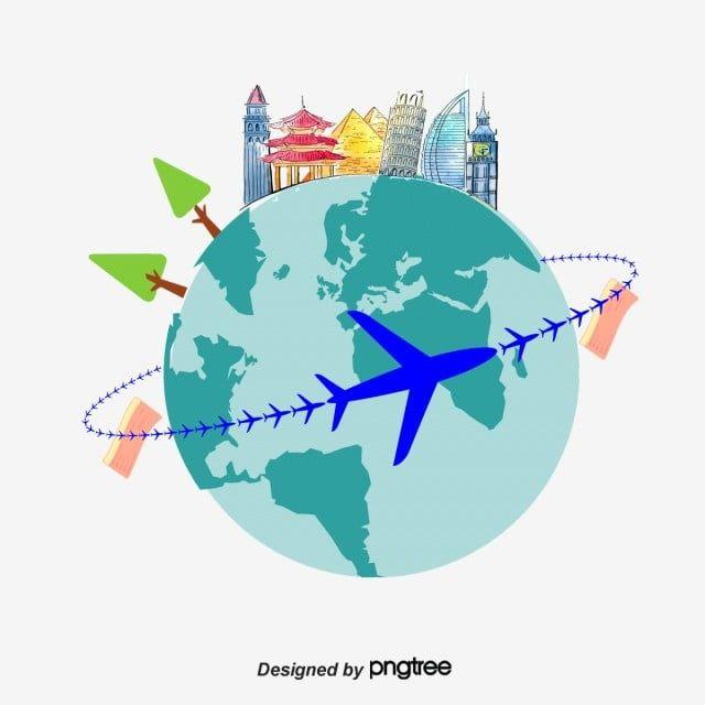 Ao Redor Do Mundo , Ao Redor, O Mundo, O Avião PNG e vetor