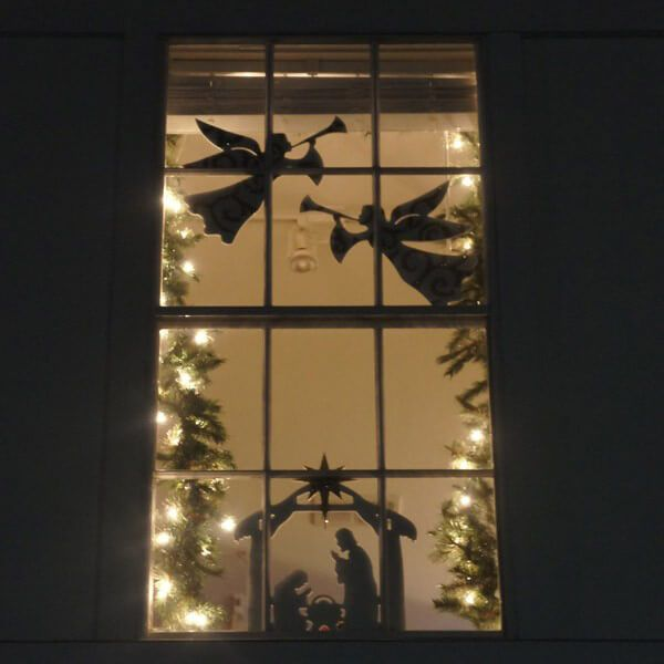 Flying Angel Window Figure