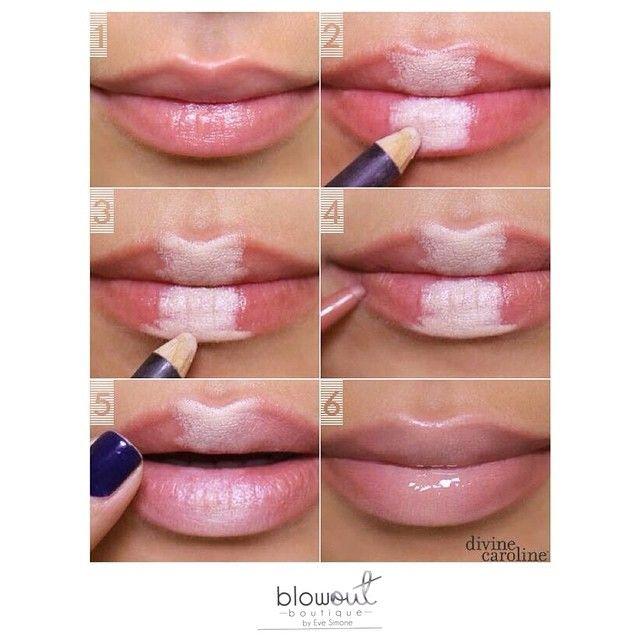 Quick tip for fuller looking lips ! #makeuptip #beautyhack #thicklips #Beautiful #fabulous