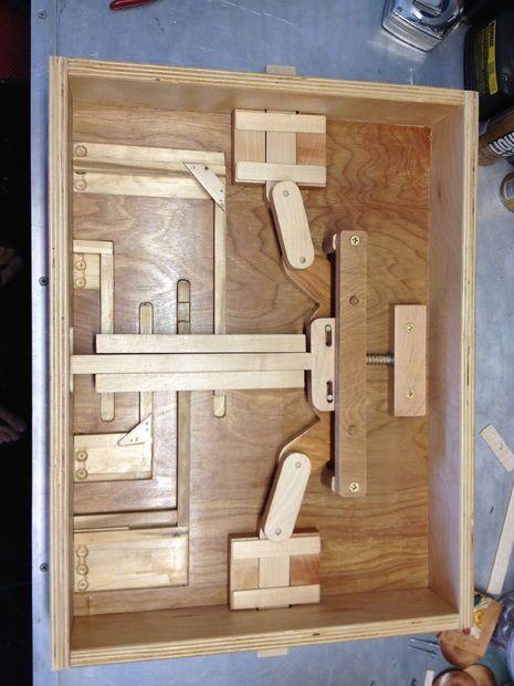 Wooden Puzzle Lock For Secret Door