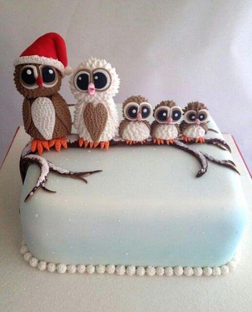 owl family cake