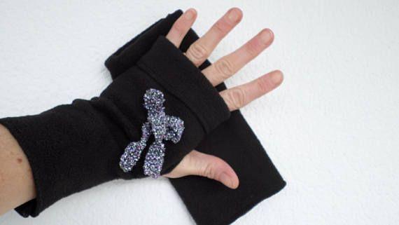 Mitaines gants polaire femme  lin'eva douce agréable noir