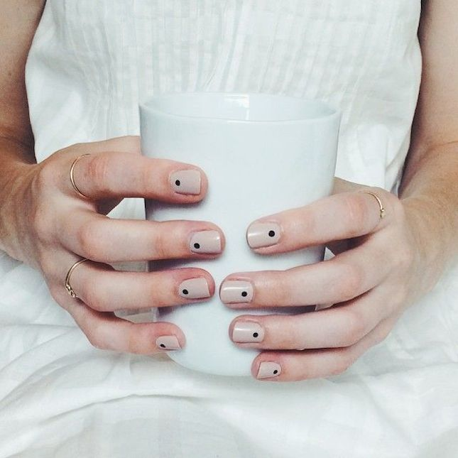 Just a Dot: This one's proof that a nude mani can get even better. Let's just say that we'll never underestimate the power of a simple dot again. (via Alex Yeske)