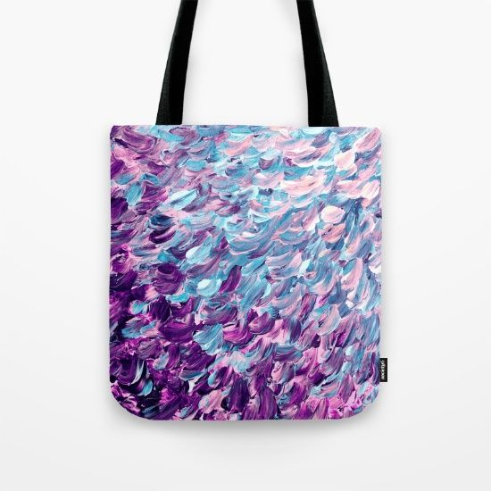 """""""Frosted Feathers"""" by Ebi Emporium on @society6 colorful fine art decorative shoulder tote bag fashion style"""