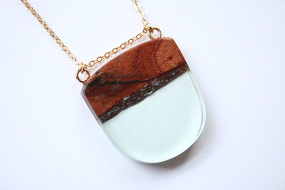 Large minimalist pendant / necklace handmade from by BoldB on Etsy