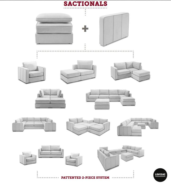 Sactionals by Lovesac - Smartest Furniture You'll Ever Own