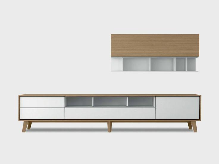 Contemporary style wooden storage wall AURA C6-3 Aura Collection by TREKU | design Angel Martí, Enrique Delamo