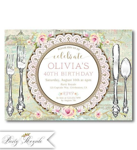Les 288 meilleures images du tableau birthday invitations for birthday dinner invitations printed or printable pdf file stopboris Choice Image