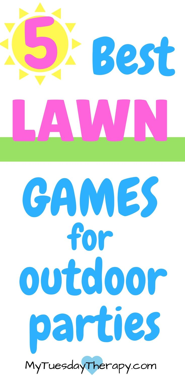 These lawn games are for awesome for outdoor parties.  Games for Teens   Games for Tweens   Outdoor games for family   These games will keep the kids outdoors enjoying the sunshine and moving around.   #summerfun #kidsactivities #familyfun via @www.pinterest.com/mytuestherapy