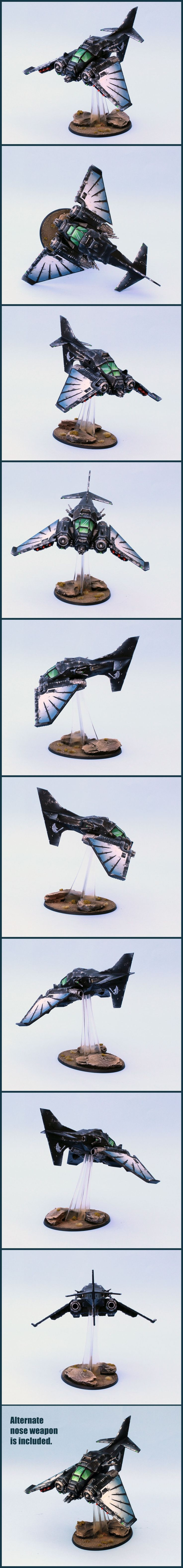 40k - Dark Angels Ravenwing Nephilim Jetfighter