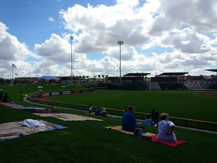 Lawn Seating at Cubs Park. 10 Reasons to Go To Cubs Spring Training - No Bags To Check