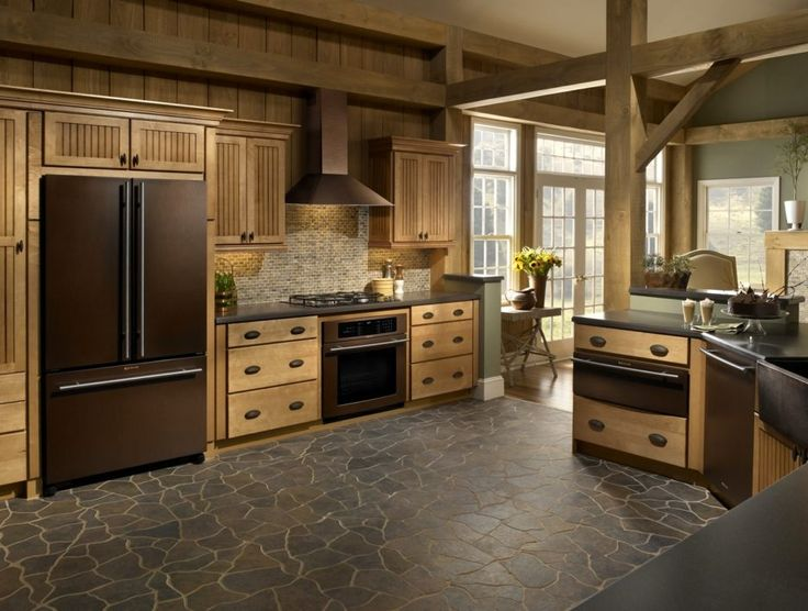 Kitchen appliance. Kitchen and residential design jenn air, traditional log cabin kitchen design ideas with cooper kitchen appliance, wooden kitchen furniture, wooden kitchen storage ideas, laminate flooring design. 15 ideas copper kitchen appliances