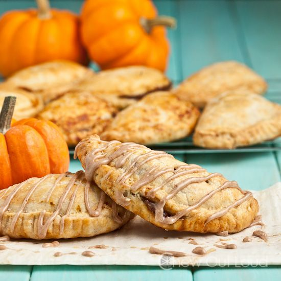 These pumpkin pasties are little hand pies with a flaky and buttery double crust. Filled with sweet, cinnamony pumpkin inside. Great breakfast or dessert.
