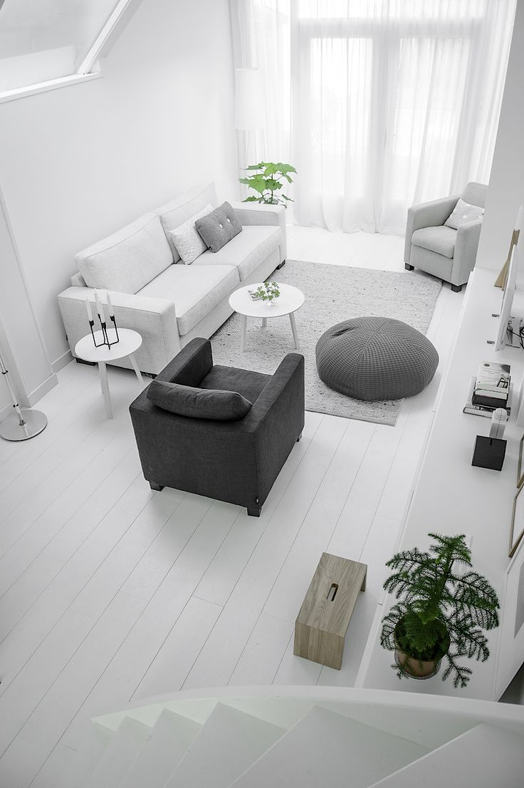 Shades Of Grey Used As Palette For A Minimalist Living Room