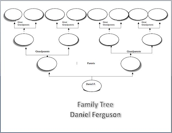 Here is a plain and simple family tree template made with MS Word ...