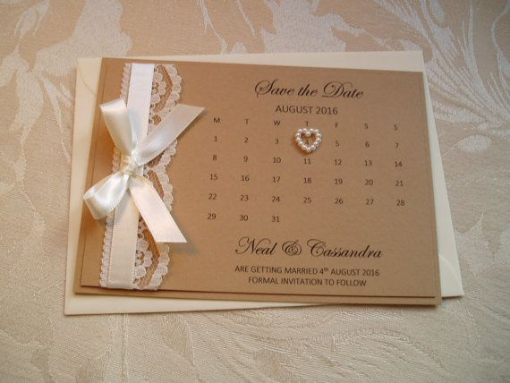 Country Style 'Save the Date' Card with von QuillsWeddingFavours