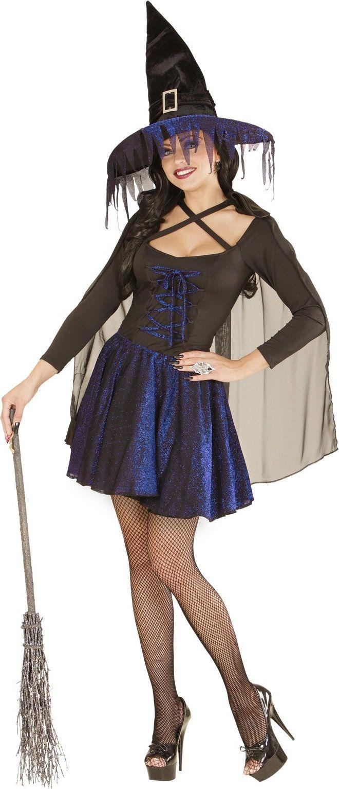 1510bbc1b Disfraz bruja azul y negro mujer Halloween | Disfraces | Disfraz de ...