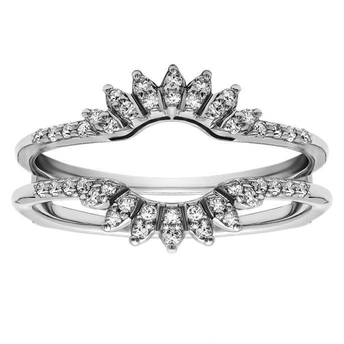 Wedding Rings:Wedding Ring Enhancers Design Wedding Ring Enhancers For Princess Cut