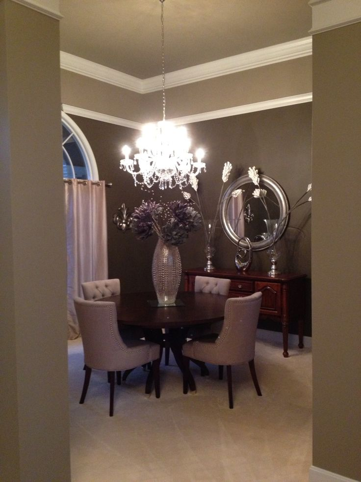 Dining room  Matte chocolate brown paint in the dining room elevates its  elegance from the. 81 best That s Just Tuft  images on Pinterest   Ethan allen